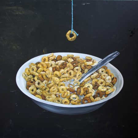 Kristin Llamas Art Muslim inspired Socrates Painting of cheerios