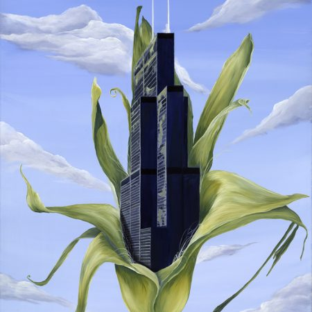Kristin Llamas Art Nomadic Project Georgia inspired Sears Tower Painting