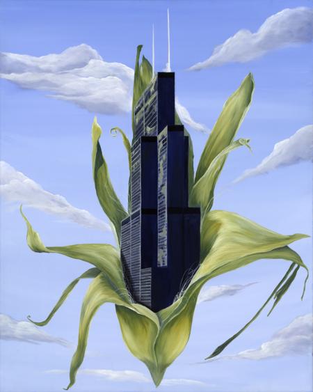Kristin Llamas Art Nomadic Project Georgia inspired Sears Tower Painting