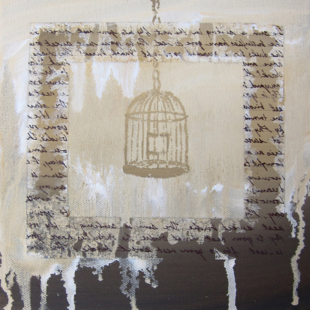 k llamas painting bird cage painting