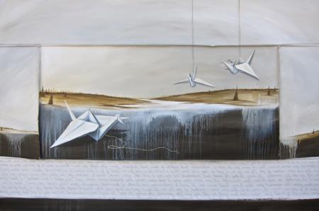 k-llamas-papercrane-painting