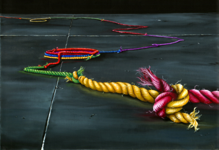 contemporary art by nashville artist k llamas painting of rope and unity