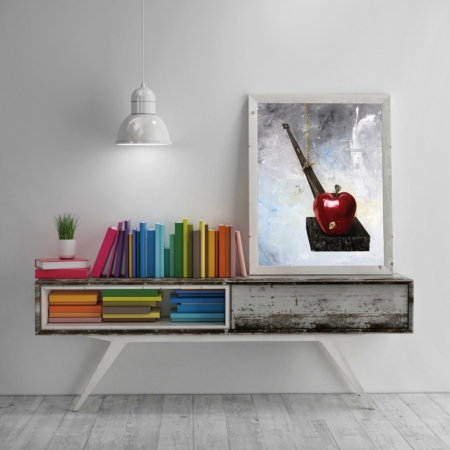 Apple-painting-book-art