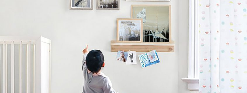 nursery design k llamas art painting