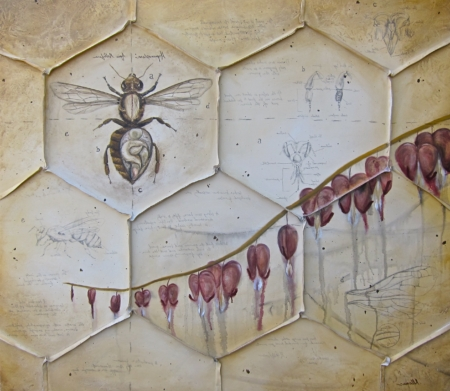 Colony Collapse disorder bee painting kllamas fine art print