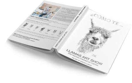llama art book kristin llamas