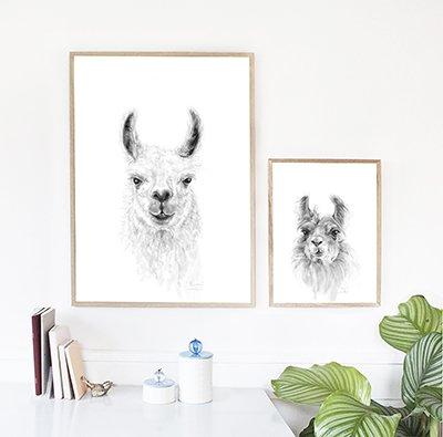 nashville artist kristin llamas llama art drawing