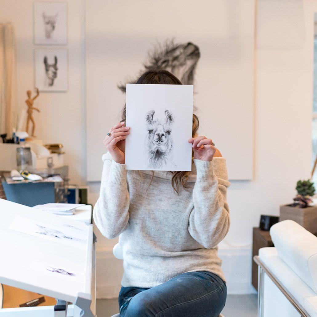 Kristin Llamas nashville artist llama art