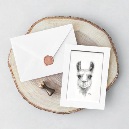 llama art print mini